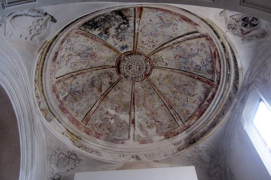 A Painted Ceiling within the Palacio