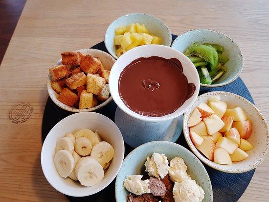 Cafe Bar Alonso :  Schokoladenfondue