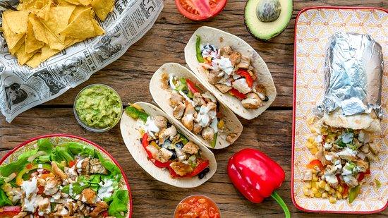 Mex y Fresh : Tacos, Burritos, salad, chips,...