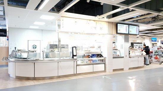 Restaurant Ikea Evry : Les vitrines alimentaires.