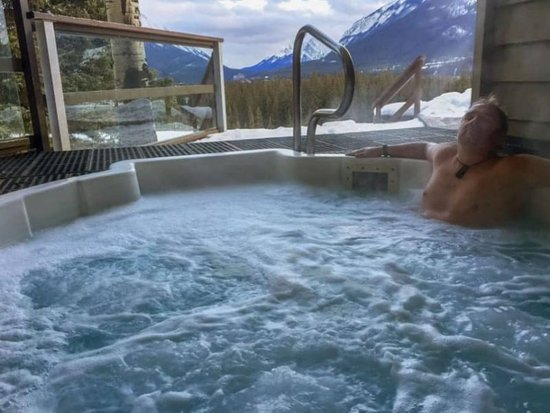 Warming up after a day outside at the Juniper Hotel in Banff, Alberta