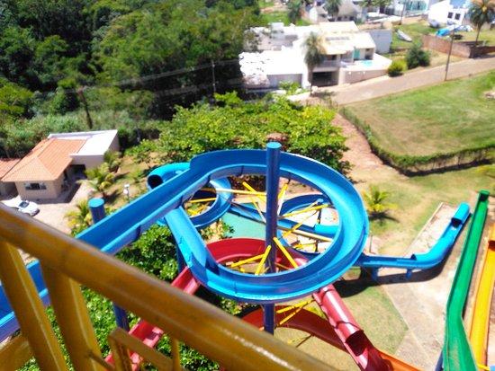 Porto Rico: vista do parque de cima do toboágua