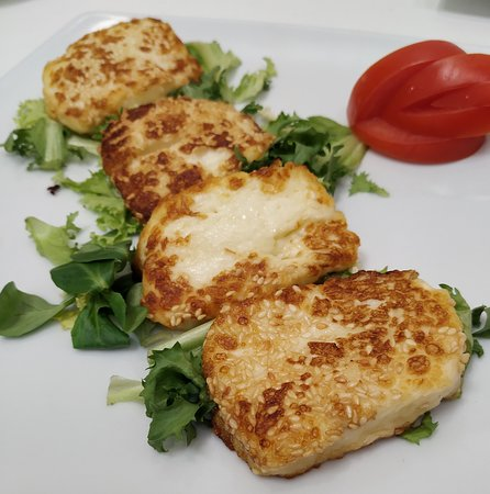 Fusion Lounge Puerto Banus: Haloumi can never disappoint.