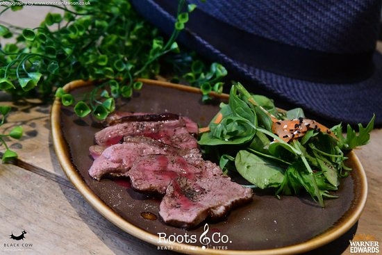 Roots & Co Peppered Steak Strips | With portobello mushroom and blue cheese 20 Post Office Road 01202 558399