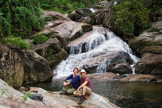 Ricky and Florin maintain a private trail down to a waterfall and swimming hole.  Amazingly beautiful!