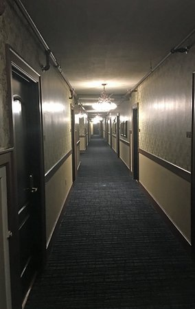 Hallway at the MarQueen Hotel.