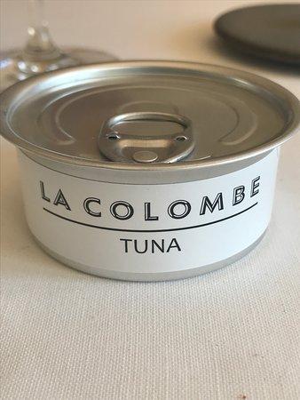 """La Colombe: amuse bouche """"Tuna la Colombe"""""""