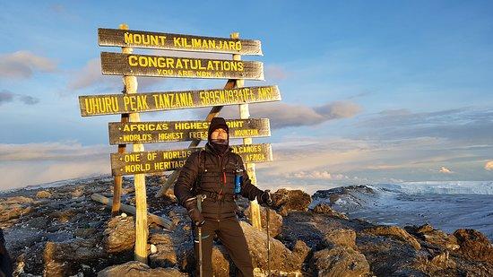 Uhuru peak 5895m with hotsun safaris