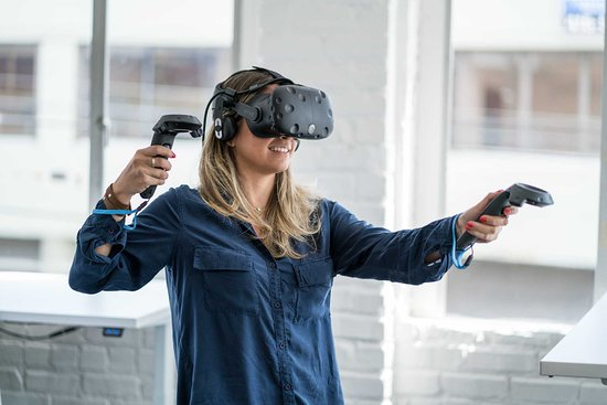 Mariehamn, Finska: Entax Virtual Reality, experience VR with HTC Vive Pro