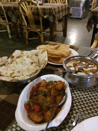 Bombay potatoes and Lamb Diopazza