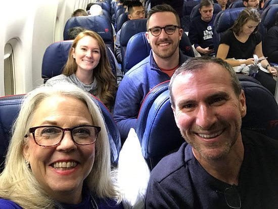 Delta Air Lines: We were in the comfort class section