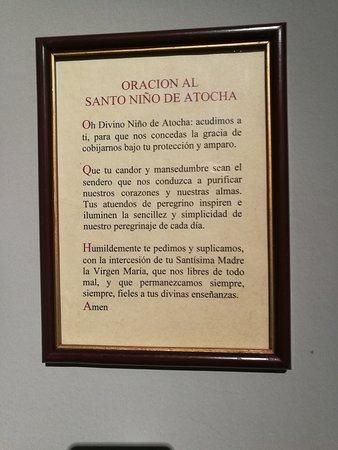 Oración al Santo Niño de Atocha.