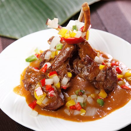 Grilled Lamb Chop w/ Home Made Beer Paste