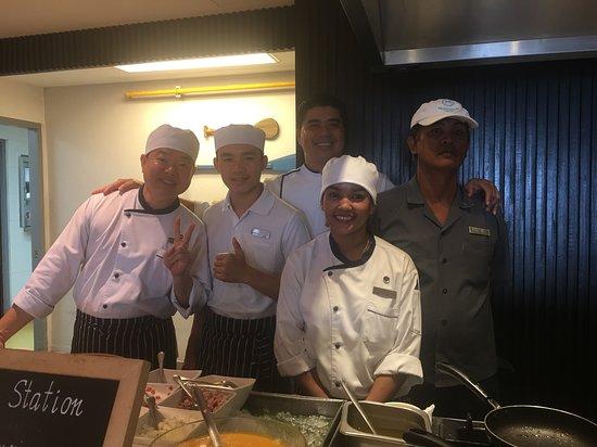 Sheraton Samui Resort: Sous Chef Samart Muesantat and his Team