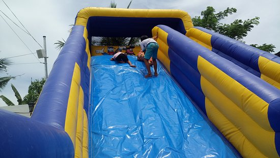 the slide is usually on from 1till 5pm