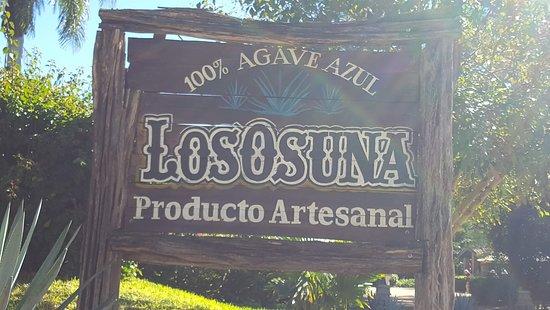 La Noria, Mexico: Los Osuna Entrance Sign