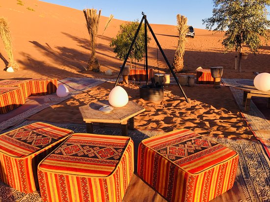 Bivouac Cafe Du Sud: The place where we sit at night listening to Berber music.
