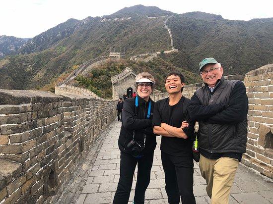 Beijing, China: Cruising the Great Wall with our fabulous tour guide--King Kong!