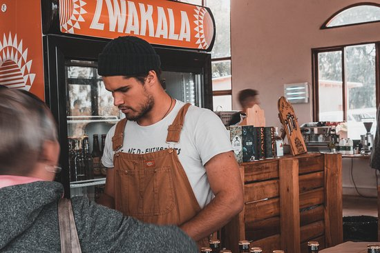 Zwakala Brewery: Barmen always ready to pour you a beer!