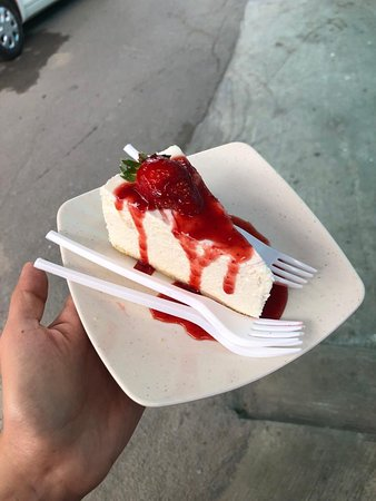 strawberry cheese cake from fresh from the strawberry farms