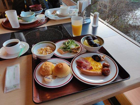 Yunomori Hotel Shidotaira: 自助早餐無論是選擇與質素都能讓人滿意