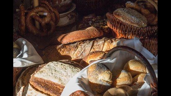 Sélection de pains au petit déjeuner