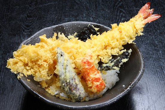 Province of Naples, Italie : tempura di gamberi