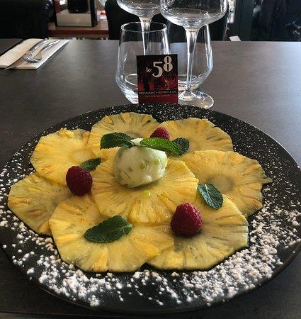 Le 58: Bistrot 58 - Carpaccio d'ananas