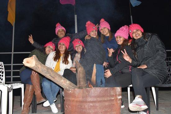 Changunarayan, Nepal: Guest enjoying firecamp