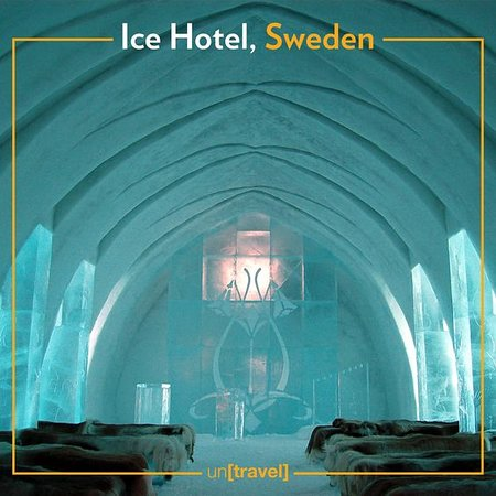 And, there's nothing like Ice Hotel of Sweden whose suites features ice sculptures of animals, staircases and more.. #travel #adventure #beach #wanderlust #vacation #travelgram #explore #holiday #travels #traveler #traveller #traveling #travelling #travelphotography #travelingram #traveladdict #exploretocreate #passionpassport #tourism #mytravelgram