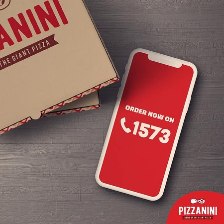Pizzanini Lebanon For Delivery, call us on 1573