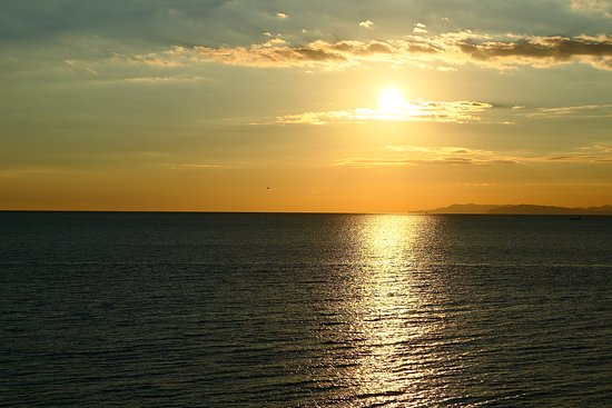 何て海が穏やかなんでしょう!!