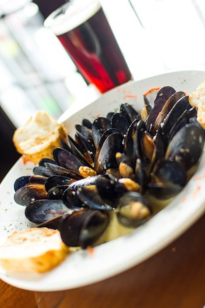 A plate of our delicious mussels.
