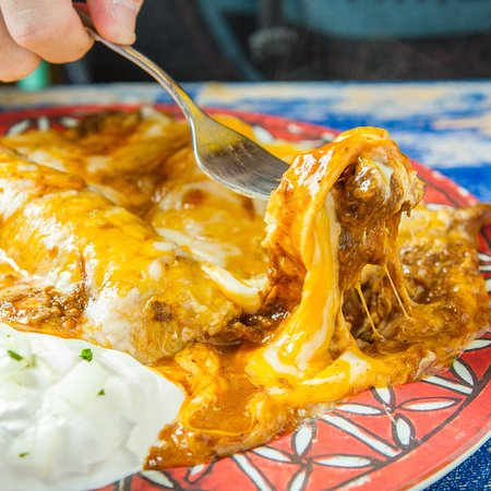Medford, NY: A photo of one of our delicious enchiladas!