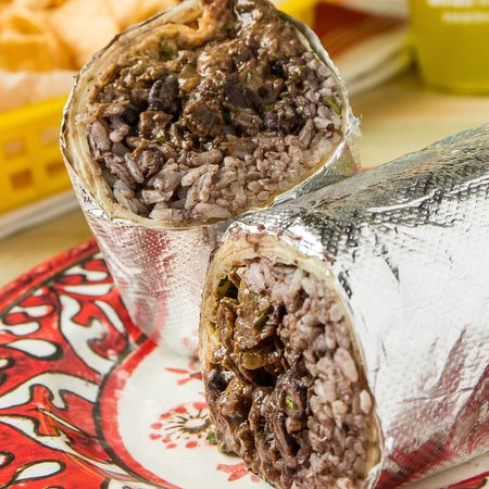Medford, NY: A photo our tasty burrito! Get them any time and late-night for $5!