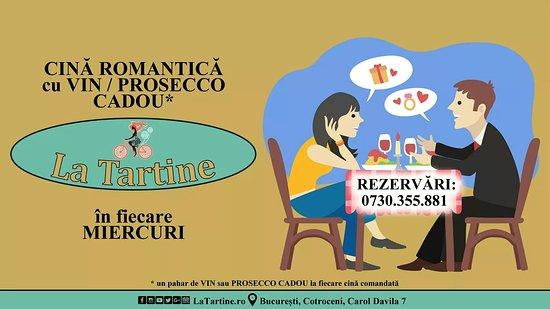 La Tartine Cotroceni: 👉 V-ați făcut #REZERVARE pentru #CINĂ #Romantică cu #Vin / #Prosecco #CADOU de #LaTartine #Cotroceni din această seară?