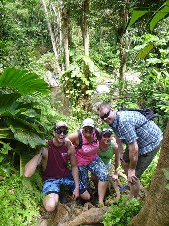 Recorrido para grupos pequeños por las zonas menos transitadas de la selva de El Yunque: We stepped off the path slightly to get this photo.