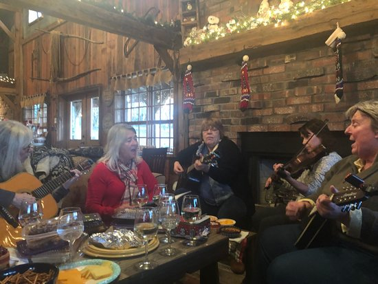 Greenup, IL: Playing music in our cozy corner.