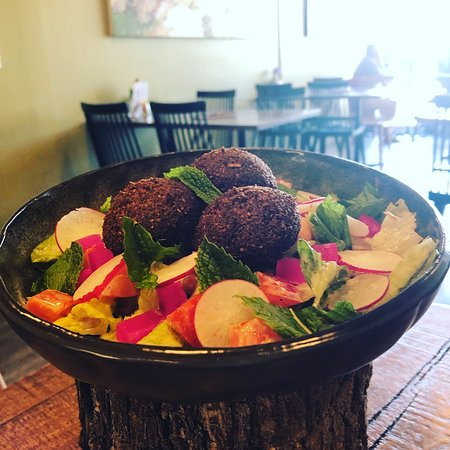 Our latest addition to the family...Falafel Salad.  It would be a crime not to share this with you!