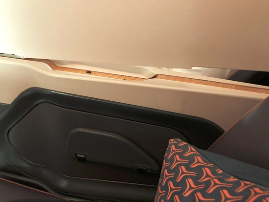 Singapore Airlines: dislocated partition of seat