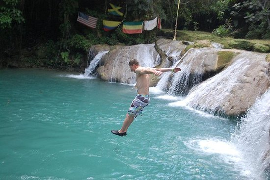Blue Hole plus Secret Falls and Dunns River Falls Combo from Runaway Bay Hotels: Blue Hole plus Secret Falls and Dunns River Falls Combo from Runaway Bay Hotels