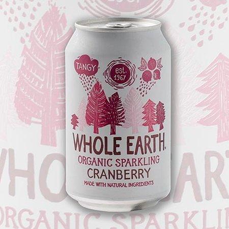Whole Earth oragnic sparkling cranberry
