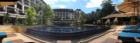 The view around the pool area