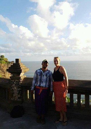 nice weather at uluwatu temple bali