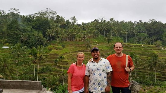 Tegallalang rice terrace with germany custumer