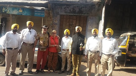 Guest From Denmark in Bundi with local people  ( Amazing Rajasthan Tours  )