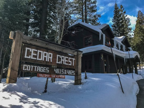 Homewood, CA: Cedar Crest Cottage, Lake Tahoe North Cedar Crest Cottages was a lovely winter retreat in Tahoe North, California.  Good for a family complete with kitchen, big screen tv, wifi and outdoor firepits.