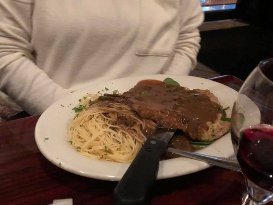 Brano's Italian Grill: Veal Marsala with Angel Hair