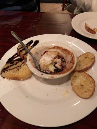 Brano's Italian Grill: Baked Brie (we already ate half of it before I took the picture LOL).