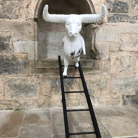 I loved loved this beautiful Abbey - it is set in the countryside and so quiet and peaceful! Every year it hosts a new modern art exhibition - I loved these little guys!